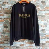 '' BALMAIN '' Women Fashion Casual Long Sleeve Sport Top Sweater Pullover Sweatshirt