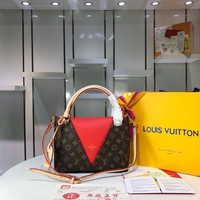 LV Louis Vuitton MONOGRAM CANVAS AND LEATHER Normandy HANDBAG SHOULDER BAG