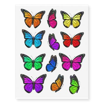 Butterfly Rainbow Temporary Tattoos