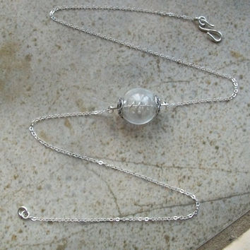 Diamonds Tiny Diamond Necklace in Glass with Sterling by tarren