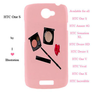 HTC Case - Chanel Make Up Fashion Design - available for htc one s, htc amaze 4 g,htc sensation xl, htc desire hd, htc desire s and more