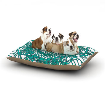 "Patternmuse ""Mandala Spin Jade"" Green Dog Bed"