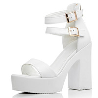 Fashion Party thick Sole Shoes cowhide leather Woman Sexy ankle warp High Heels Summer open toe platforms Sandals Women Shoes