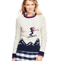 Wool Ski Intarsia Sweater - Brooks Brothers