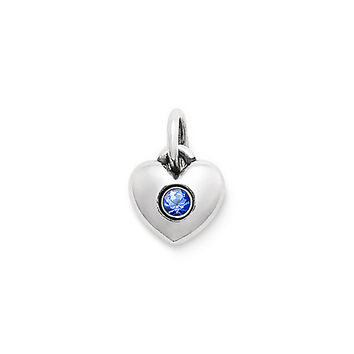 Keepsake Heart Charm with Lab-Created Blue Sapphire