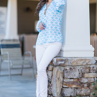 Sweet Sweet Summer Top, Turquoise