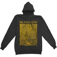Brand New Men's  Fingerprint Hooded Sweatshirt Black Rockabilia