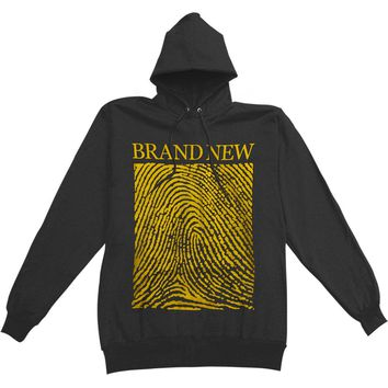 Brand New Men's  Fingerprint Hooded Sweatshirt Black