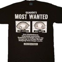 Family Guy Stewie Most Wanted Black T-shirt  - Family Guy - | TV Store Online