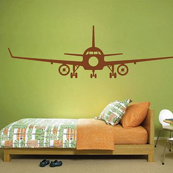 ik2861 Wall Decal Sticker airplane aircraft children's bedroom
