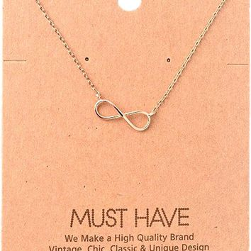 Must Have-Infinity Necklace, Rose Gold