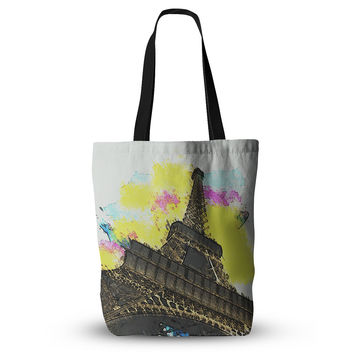 "Oriana Cordero ""Eifel - Bon Jour"" Yellow Paris Everything Tote Bag"