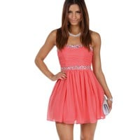 Paris-coral Prom Dress