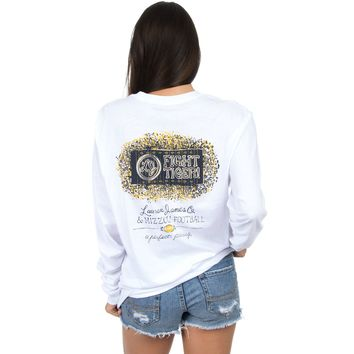 Mizzou Perfect Pairing Long Sleeve Tee in White by Lauren James
