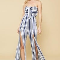 Sweetheart Striped Tube Jumpsuit