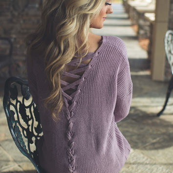 Coming Undone Sweater (Lavender)