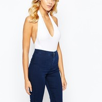 American Apparel | American Apparel Sexy Plunge Neck Backless Body at ASOS