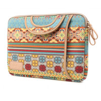 BOHO Notebook Canvas Pouch HandBag Liner Package Tote for Macbook Laptop