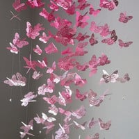 Monarch Butterfly Chandelier   Mobile -Perfectly Pink version II