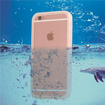SE i6 i6s White Waterproof Swim Diving Case For iphone 5 5s SE 6 6S 6 Plus Clear Protective Front & Back TPU Cover Accessories