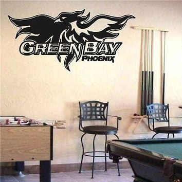 Wisconsin Green Bay Phoenix NCAA Logo Emblem Wall Art Sticker Decal (S1072)