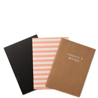 3pk of a5 notebooks