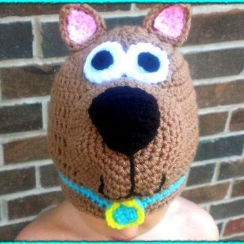 free shipping,100% cotton Halloween cartoon baby scooby-doo hat , new handmade Crochet  baby dog hat Christmas gift