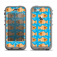 The Seamless Vector Gold Fish Apple iPhone 5c LifeProof Nuud Case Skin Set
