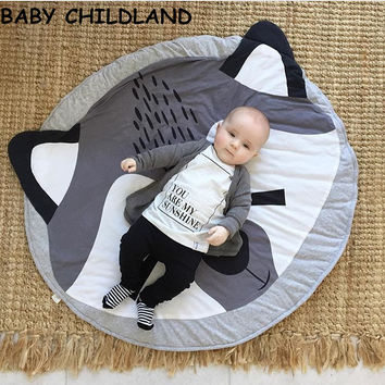 95 Baby blanket cotton play mats Soft baby games carpet fox baby crawling blanket baby photography props blanket room decoration