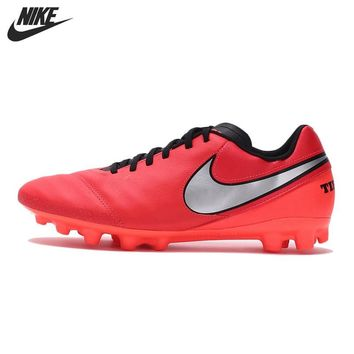Original New Arrival NIKE TIEMPO GENIO II LEATHER AG-R Men's Soccer Shoes Sneakers