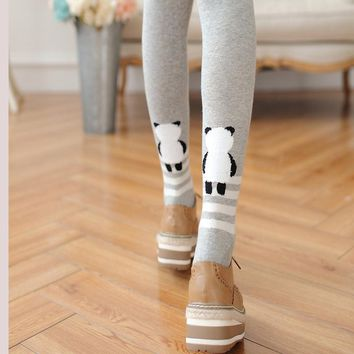NEW Autumn and Winter Fashion Women's Cotton Tights cartoon High Quality Elastic Waist Slim Warm Tights Sexy Pantyhose for girl