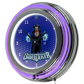 WWE Kids Undertaker Neon Clock - 14 inch Diameter