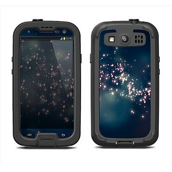The Dark & Glowing Sparks Samsung Galaxy S3 LifeProof Fre Case Skin Set