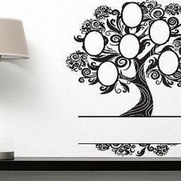 Wall Sticker Vinyl Decal Heraldic Family Tree Frame Pictures Ancestral Unique Gift (n150)