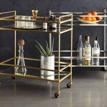 The ZAHRAA Collection   Rolling Bar Cart