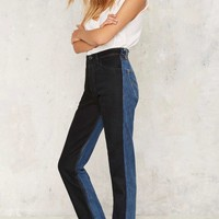 After Party by Nasty Gal Long Haul Jeans - Black Tonal