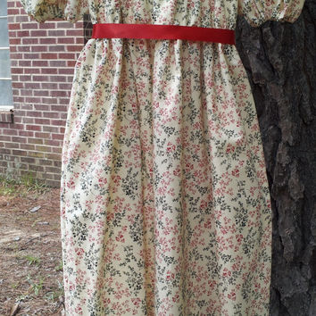 Girls Regency Jane Austen Dress Size 7-8, Ready to Ship