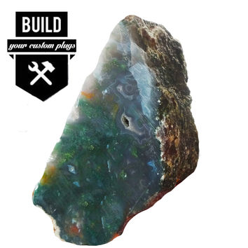 "Build Your Moss Agate Stone Plugs (2g-3"")"