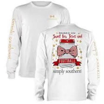 *Closeout* Simply Southern Long Sleeve Tees - Football GEORGIA