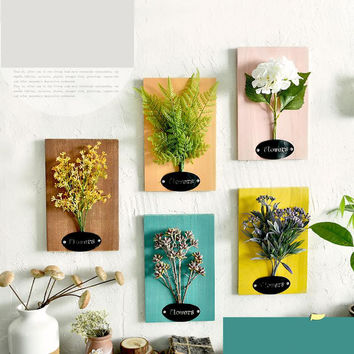 Original rural household frame floral plant simulation combination three-dimensional frame wall act the role ofing setting metop