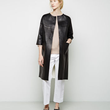 Leather Duster Coat by Marni