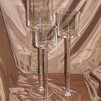 Tall Glass Cup Vase Tealight Candle Holder Table Centerpiece, 20-inch