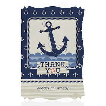 Birthday Party Thank You Cards - Ahoy - Nautical