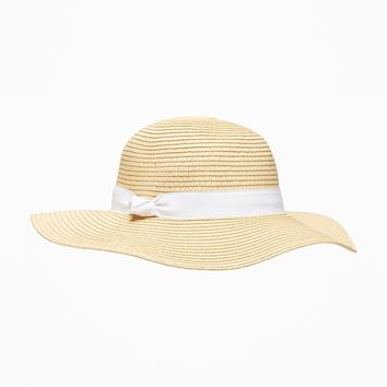 Straw Twisted-Band Hat for Baby|old-navy