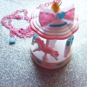 Sweet Pastel Carousel Necklace