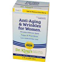 King Bio Homeopathic Anti Aging and Wrinkles - Women - 2 oz