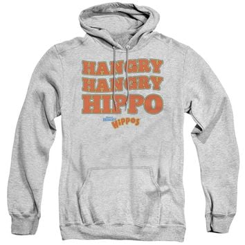Hungry Hungry Hippos Hoodie Hangry Athletic Heather Hoody
