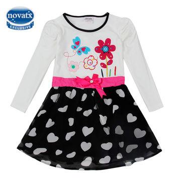 Girls dress pig children clothing princess dresses for girls bow ball gown party kids lace dress girls long sleeve girls clothes