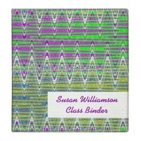 Colorful pink green yellow pattern binders