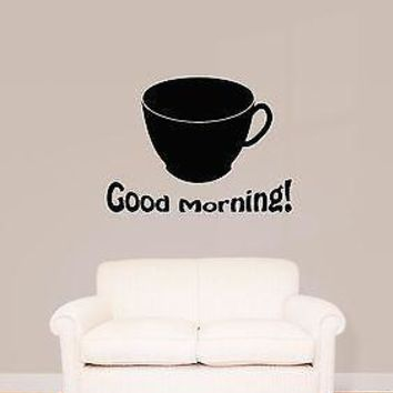Wall Stickers Vinyl Decal Good Morning Coffee Cup Decor For Kitchen  Unique Gift (z1922)